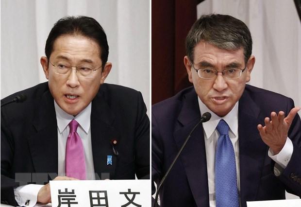 Nhat Ban: Cac ung cu vien Taro Kono va Fumio Kishida so ke quyet liet hinh anh 1