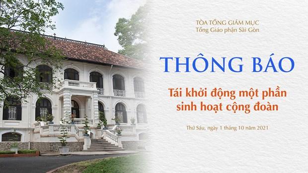 Toa Tong Giam muc Sai Gon tai khoi dong mot phan sinh hoat cong doan hinh anh 1