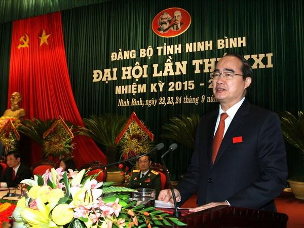 Khai mac Dai hoi Dang bo tinh Ninh Binh nhiem ky 2015-2020 hinh anh 1