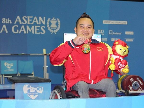 ASEAN Para Games 8: Doan Viet Nam vuon len vi tri thu ba hinh anh 1