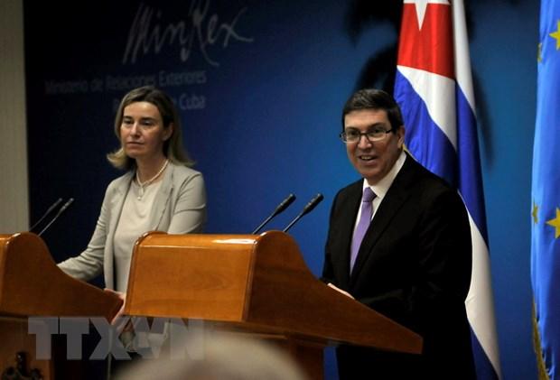 EU-Cuba chinh thuc ky thoa thuan binh thuong hoa quan he hinh anh 1