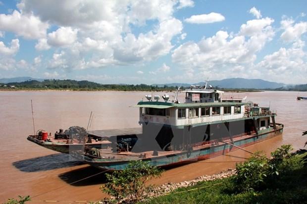 Muc nuoc tren song Mekong tai Lao dang tang dan tro lai hinh anh 1