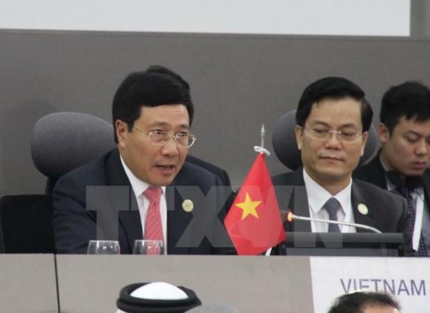Pho Thu tuong Pham Binh Minh hoi kien Chu tich Chinh Hiep Trung Quoc hinh anh 1