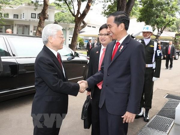 Indonesia to chuc trong the le don Tong Bi thu Nguyen Phu Trong hinh anh 1