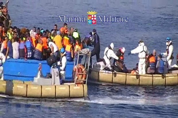 Hai quan Italy va Libya tang hop tac va chong nhap cu trai phep hinh anh 1