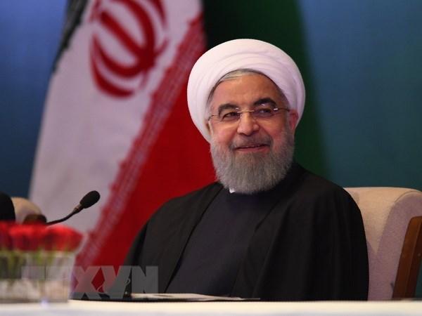 Tong thong Iran Hassan Rouhani giu vung lap truong ung ho Qatar hinh anh 1