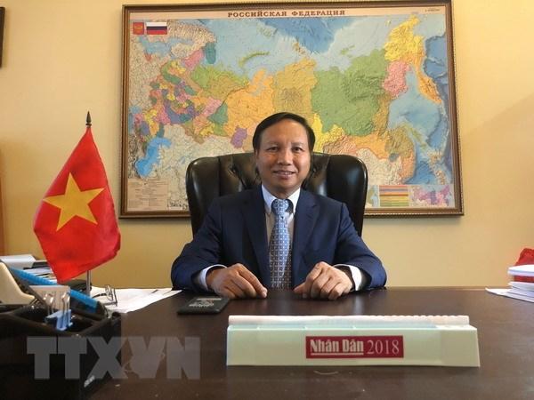 Dai su Ngo Duc Manh: Quan he Viet Nam-LB Nga phat trien manh me hinh anh 1