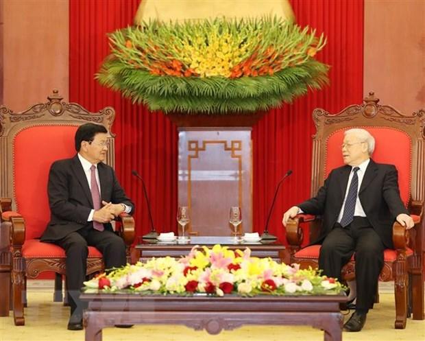 Khong ngung vun dap moi quan he dac biet Viet Nam-Lao hinh anh 1