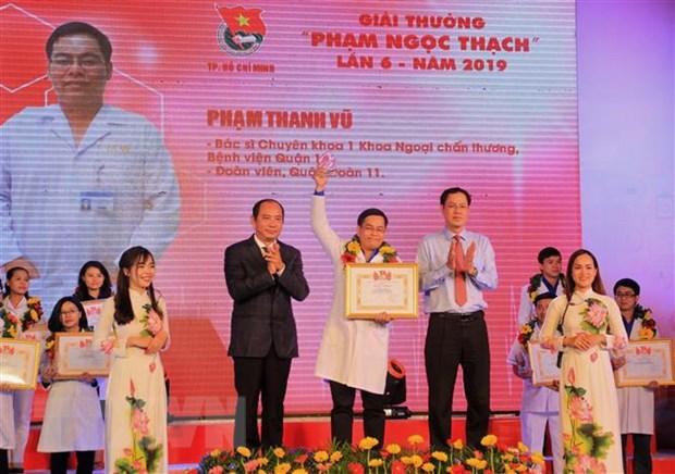 Trao Giai thuong Pham Ngoc Thach cho cac thay thuoc tre tieu bieu hinh anh 1