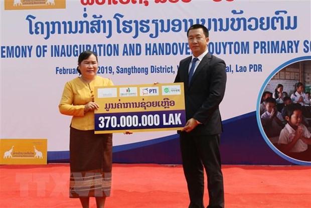 Doanh nghiep Viet Nam tai Lao tich cuc thuc hien trach nhiem xa hoi hinh anh 2
