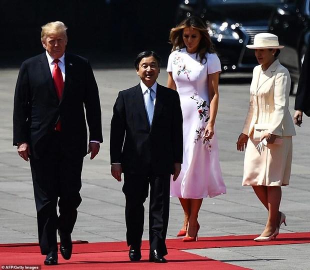 Tong thong My Donald Trump hoi kien Nhat hoang Naruhito hinh anh 1