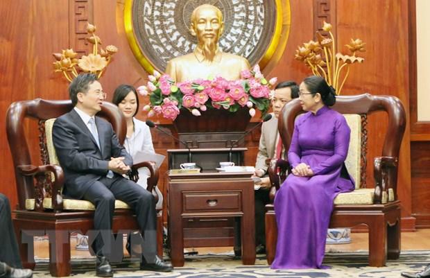 Thuc day hop tac giua TP Ho Chi Minh va thanh pho Hang Chau hinh anh 1