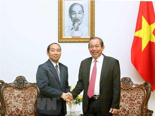 Tang cuong hop tac trong linh vuc toa an giua Viet Nam va Lao hinh anh 1
