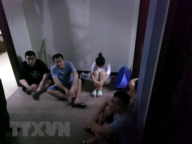 Quang Ninh: Tam giu 5 nguoi nuoc ngoai kich song di dong trai phep hinh anh 2
