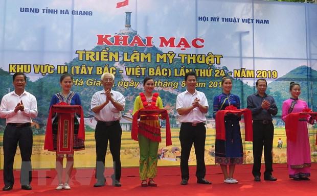 Trien lam my thuat khu vuc Tay Bac tai Ha Giang: Khong co giai A hinh anh 1