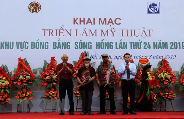 Khai mac Trien lam My thuat Dong bang song Hong lan thu 24 hinh anh 1