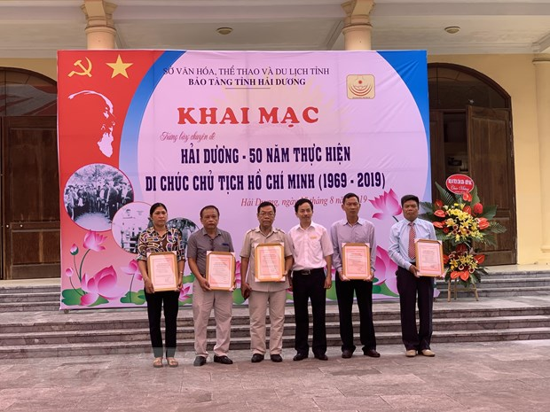 Hai Duong: Trung bay 300 hien vat ve thuc hien Di chuc Bac Ho hinh anh 1