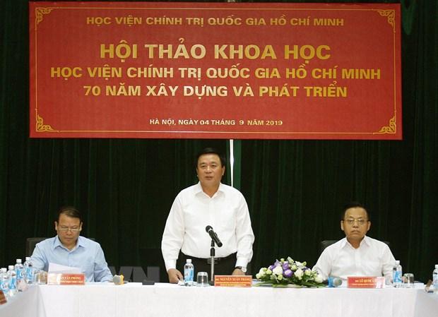 Hoc vien Chinh tri quoc gia Ho Chi Minh - 70 nam xay dung, phat trien hinh anh 1