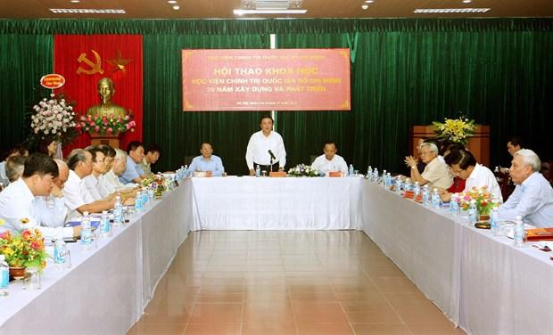 Hoc vien Chinh tri quoc gia Ho Chi Minh - 70 nam xay dung, phat trien hinh anh 2