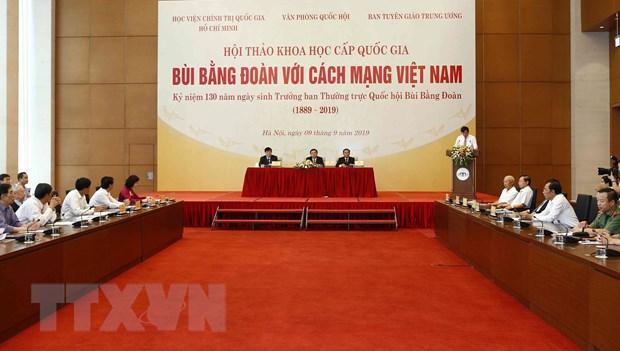 "Hoi thao khoa hoc quoc gia ""Bui Bang Doan voi Cach mang Viet Nam"" hinh anh 1"