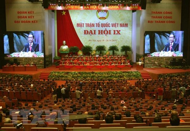 Khai mac Dai hoi dai bieu toan quoc Mat tran To quoc Viet Nam hinh anh 1