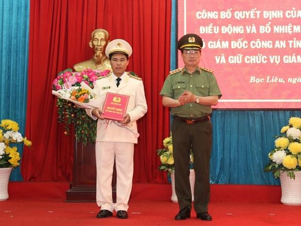 Dai ta Le Viet Thang duoc dieu dong lam Giam doc Cong an tinh Bac Lieu hinh anh 1