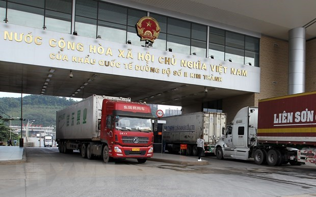 Cam phuong tien qua lai cua khau quoc te Lao Cai-Ha Khau tu 1/1/2020 hinh anh 1