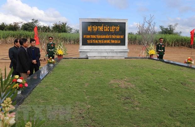 Gia Lai: Truy dieu cac liet sy hy sinh trong khang chien chong Phap hinh anh 1