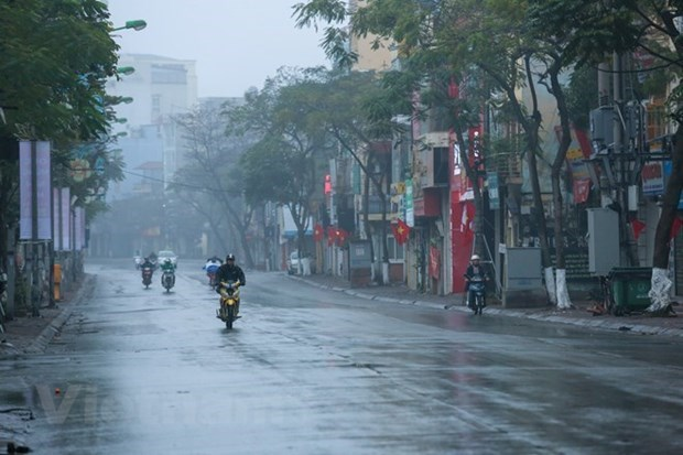 Dem 24/12, suong mu, mua phun tiep tuc xay ra o Dong Bac Bo va Ha Noi hinh anh 1
