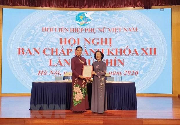 Ba Ha Thi Nga lam Chu tich Hoi Lien hiep Phu nu Viet Nam hinh anh 1
