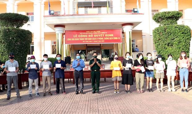 Soc Trang: 105 cong dan hoan thanh cach ly y te tap trung hinh anh 1