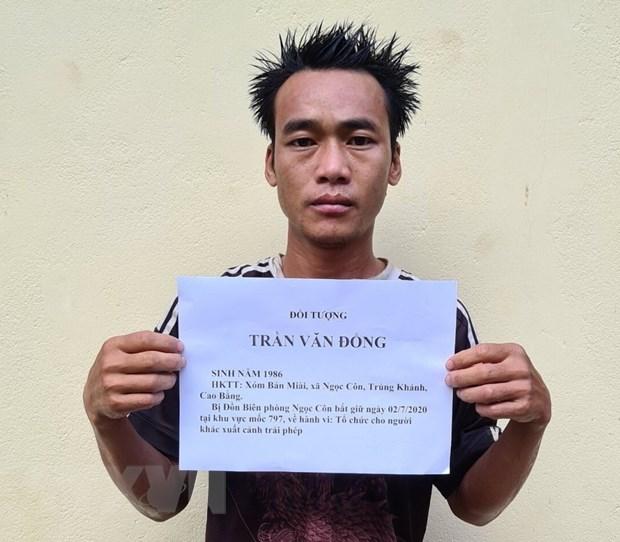 Cao Bang: Bat giu 3 doi tuong dua 10 cong dan xuat canh trai phep hinh anh 1