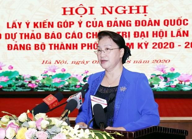 Chu tich Quoc hoi: Du thao van kien cua Ha Noi can gan voi Luat Thu do hinh anh 1
