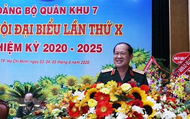 Khai mac Dai hoi dai bieu Dang bo Quan khu 7 lan thu X hinh anh 1
