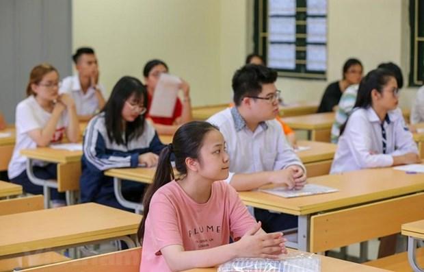 Thí sinh dự thi Trung học phổ thông quốc gia 2019. Ảnh minh họa. (Ảnh: Minh Sơn/Vietnam+)