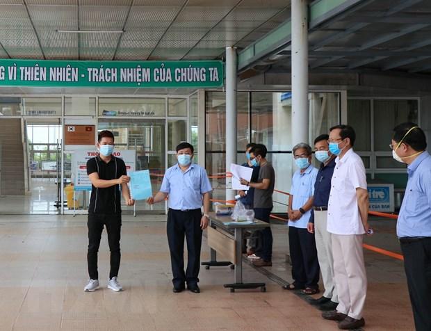 Quang Nam: Hai benh nhan mac COVID-19 da duoc xuat vien hinh anh 1
