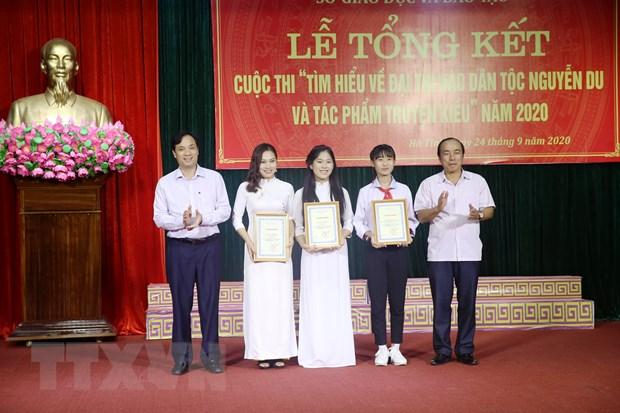 Ha Tinh: Lan toa tac pham Truyen Kieu cua Nguyen Du trong hoc duong hinh anh 1