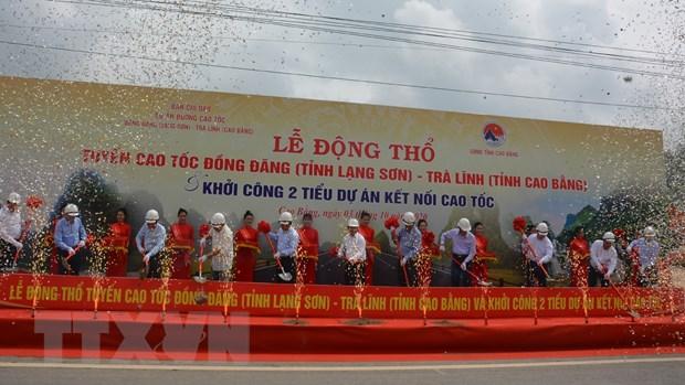 Cao Bang: Chinh thuc dong tho xay dung cao toc Dong Dang-Tra Linh hinh anh 1