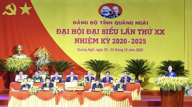 Pho Chu tich QH Tong Thi Phong du Dai hoi Dang tinh Quang Ngai lan XX hinh anh 2