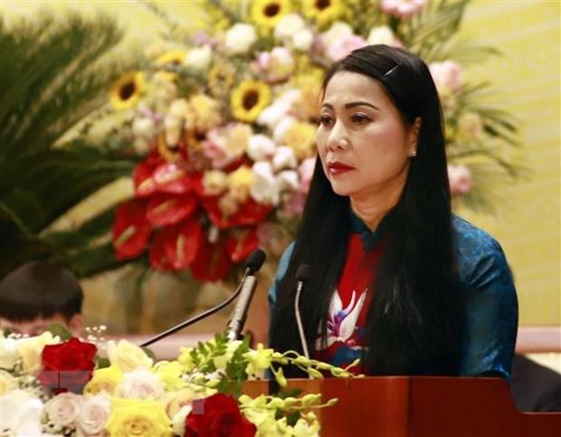 Ba Hoang Thi Thuy Lan duoc bau lam Chu tich HDND tinh Vinh Phuc hinh anh 1
