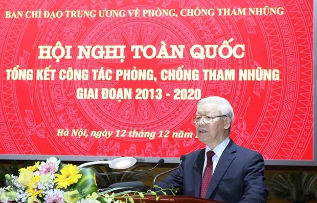 Phong chong tham nhung: Bao dam tinh nghiem minh, thuong ton phap luat hinh anh 1