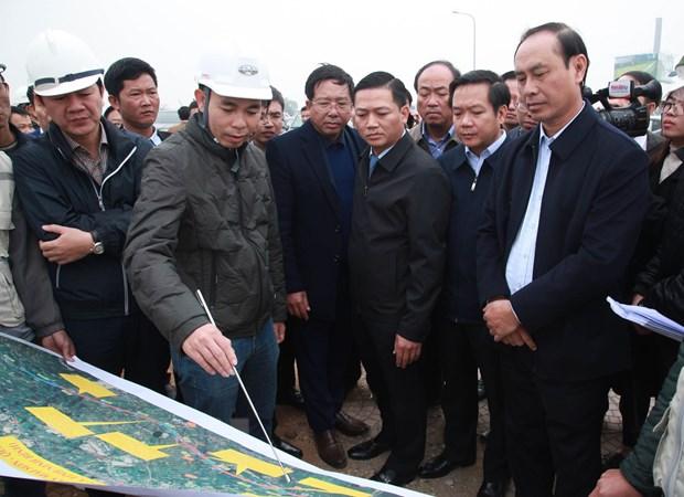 Ninh Binh: Kiem tra tien do thuc hien Du an cao toc Mai Son-Quoc lo 45 hinh anh 1