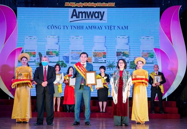Amway Viet Nam nhan giai thuong San pham Vang vi suc khoe cong dong hinh anh 1
