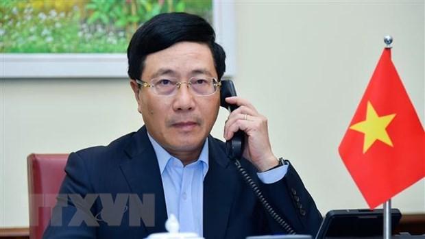 Pho Thu tuong, Bo truong Ngoai giao dien dam voi Ngoai truong Hoa Ky hinh anh 1