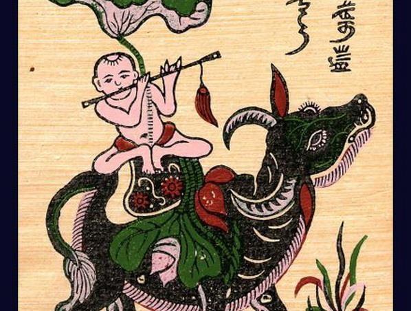 Tim hieu y nghia hinh tuong con trau trong tranh dan gian Dong Ho hinh anh 2