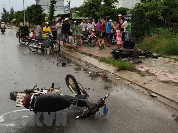 Gia Lai: Va cham giua hai xe may khien 4 thanh nien tu vong hinh anh 1