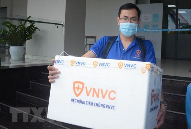 Da Nang tiep nhan 100 lieu vaccine phong chong dich COVID-19 hinh anh 1