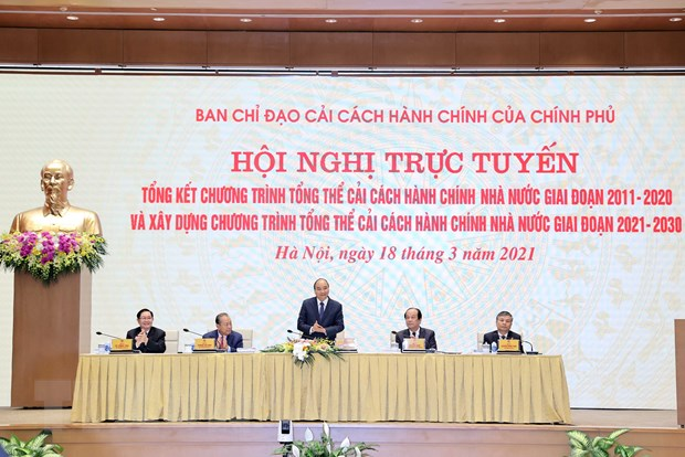 Hoi nghi tong ket Chuong trinh cai cach hanh chinh nha nuoc 2011-2020 hinh anh 2