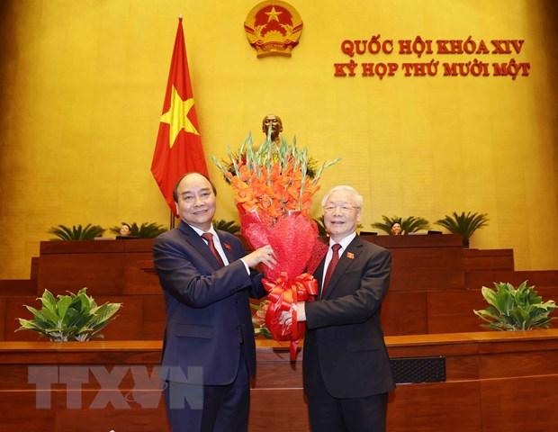 Toan van phat bieu nham chuc cua Chu tich nuoc Nguyen Xuan Phuc hinh anh 2