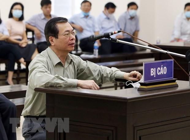 Bị cáo Vũ Huy Hoàng (cựu Bộ trưởng Bộ Công Thương) bị tuyên phạt 11 năm tù. (Ảnh: Phạm Kiên/TTXVN)